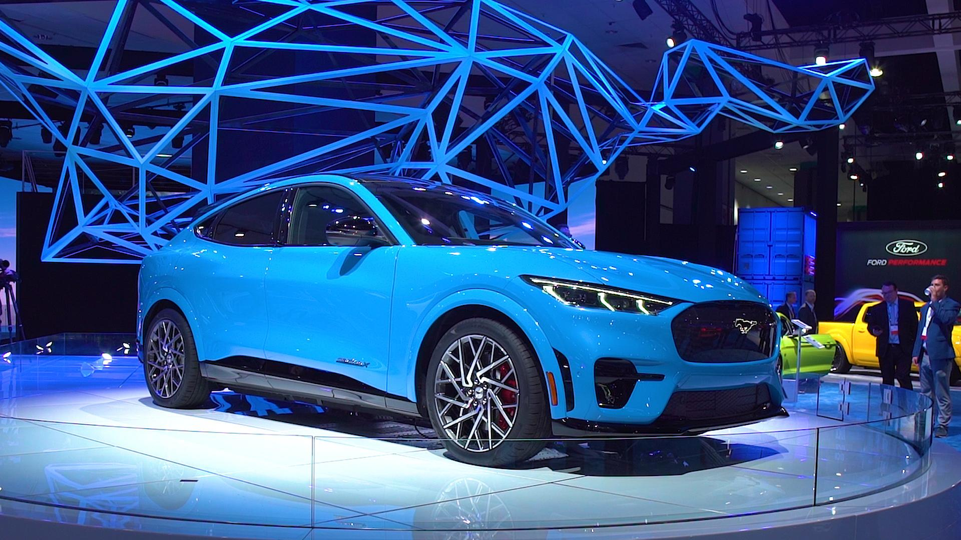 Ford Unveils The 2021 Mustang Mach E Electric Suv Consumer Reports