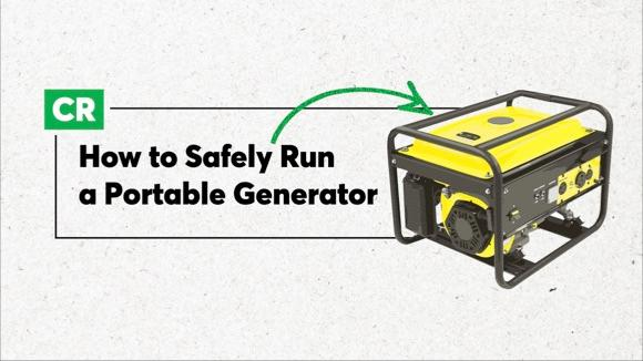 How to Run Your Portable Generator Safely