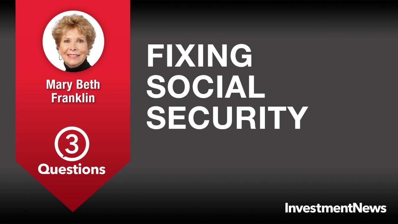 3 Questions: Mary Beth Franklin on fixing Social Security