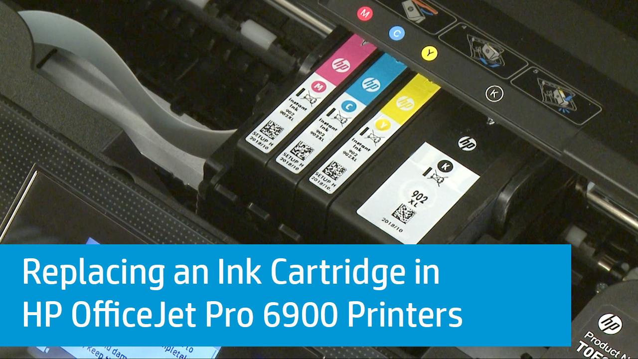 how to change ink cartridge on hp printer