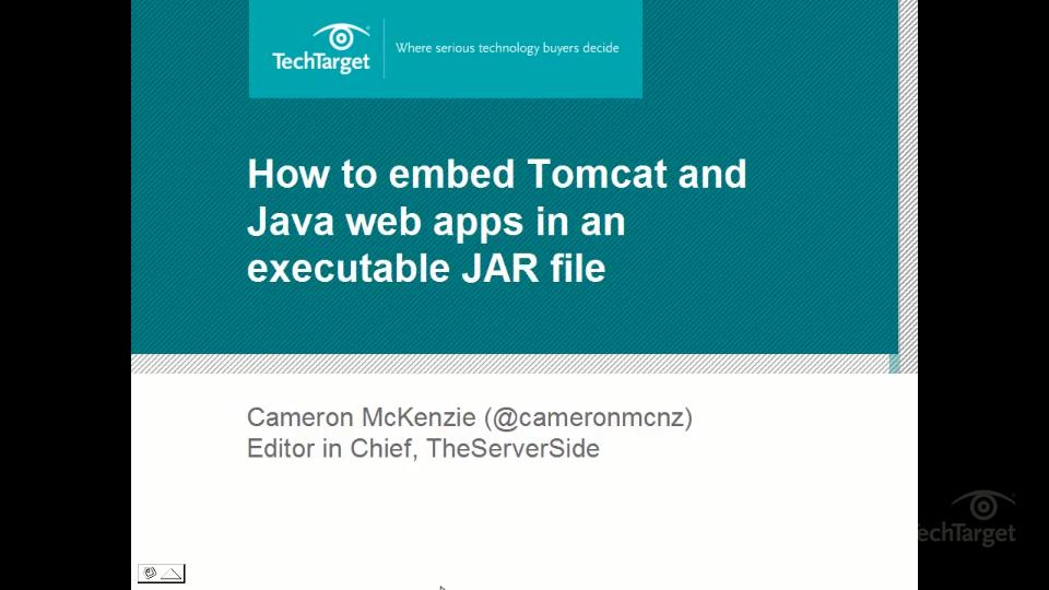 How to deploy an embedded Tomcat server in an executable JAR with