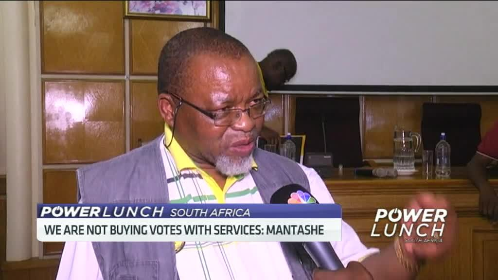 We are not buying votes with services: Mantashe