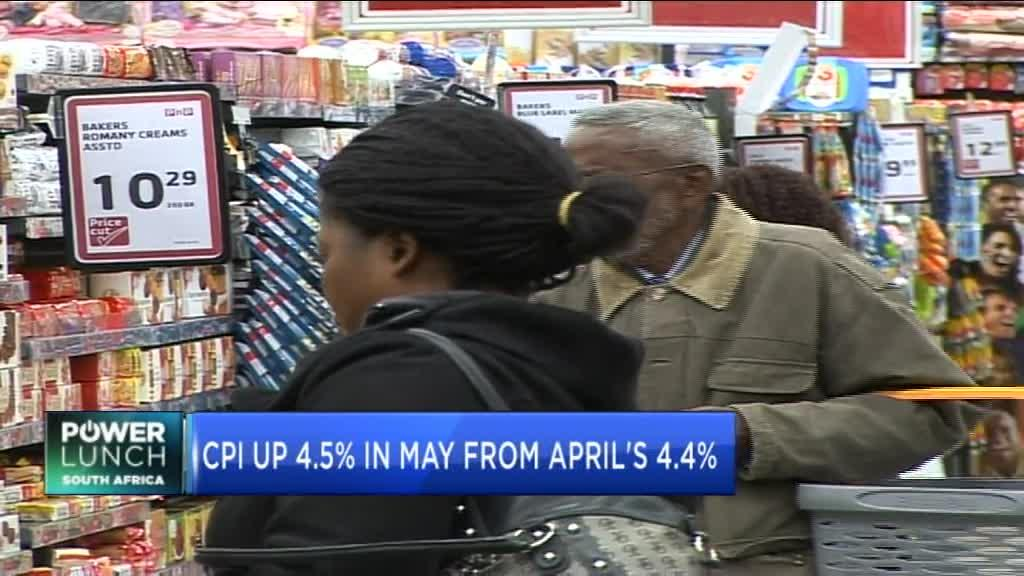 SA's CPI increases to 4.5% y/y in May