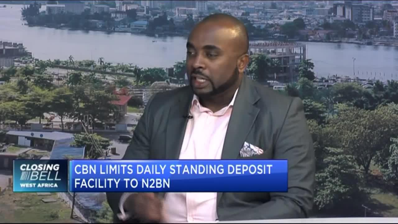 CBN limits daily standing deposit facility to 2bn naira