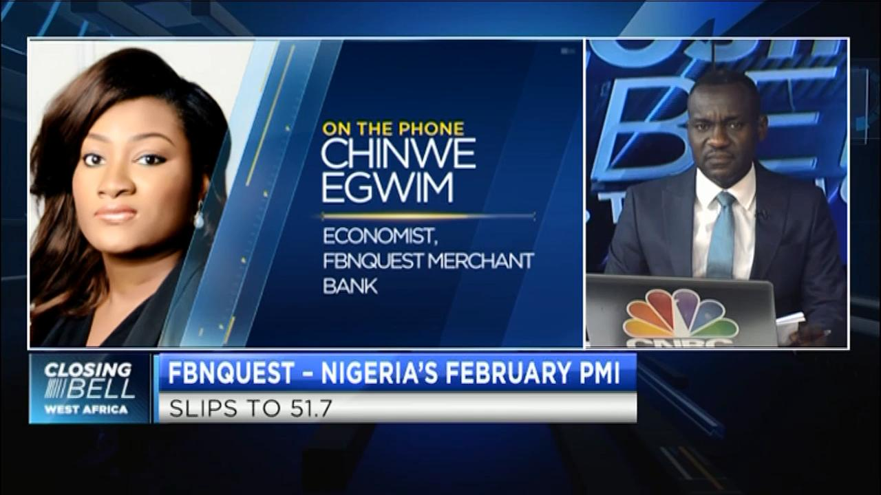 Nigeria's Feb manufacturing PMI slips to 51.7, what's reason behind the decline?