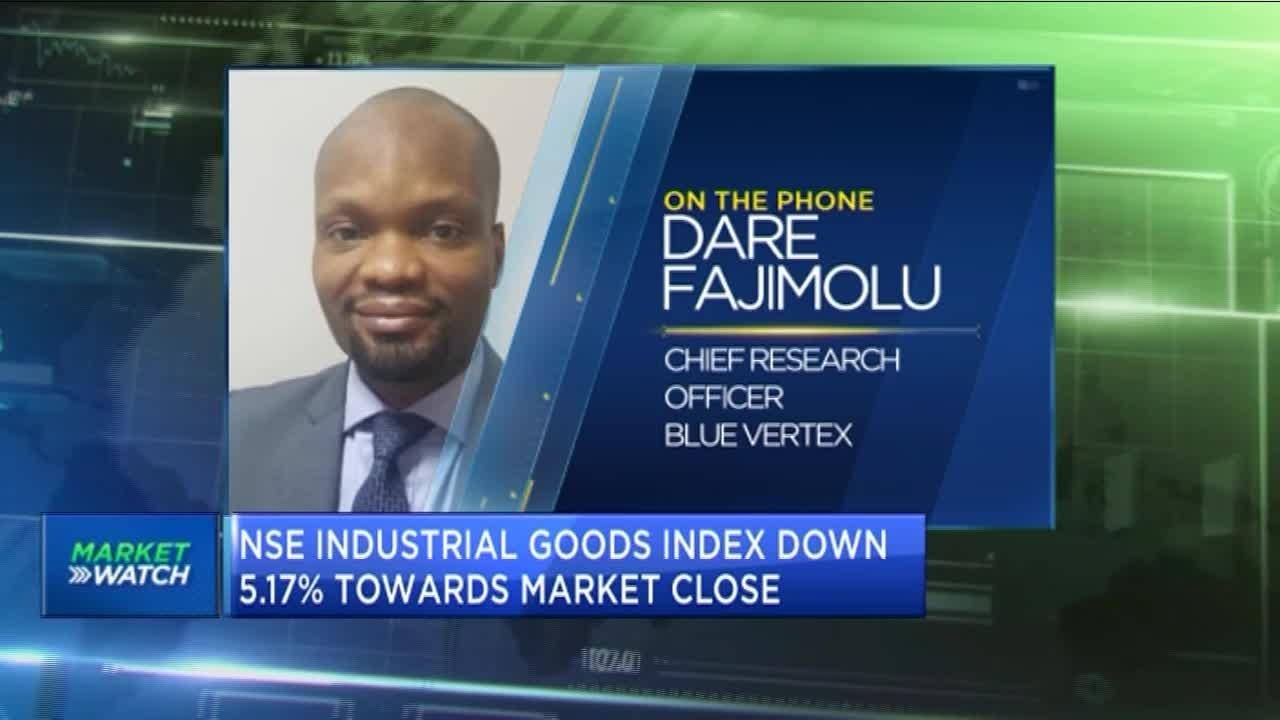 Nigerian banking index gains but industrial goods sector declines