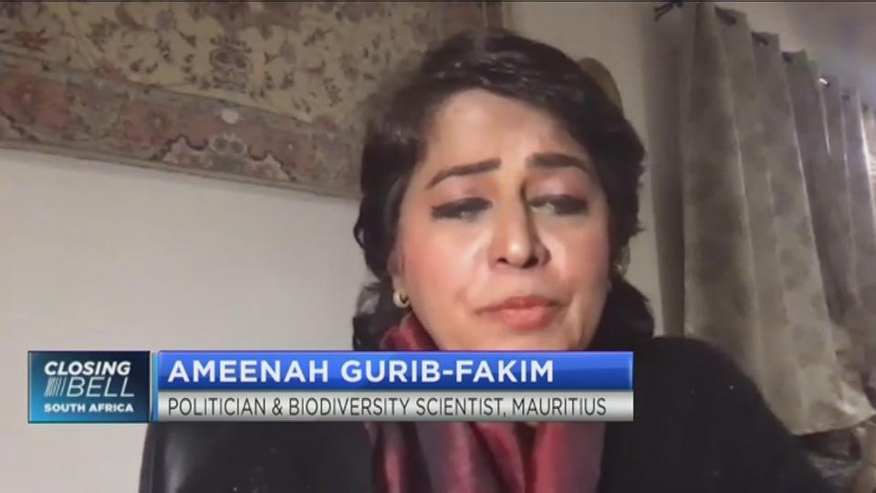 Ameenah Gurib-Fakim on how the oil spill will impact the Mauritian economy