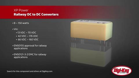 XP Power Railway DC/DC Converters | Digi-Key Daily