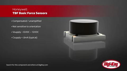 Honeywell TBF Basic Force Sensor│Digi-Key Daily