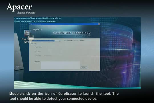 Apacer CoreEraser Instructional Video