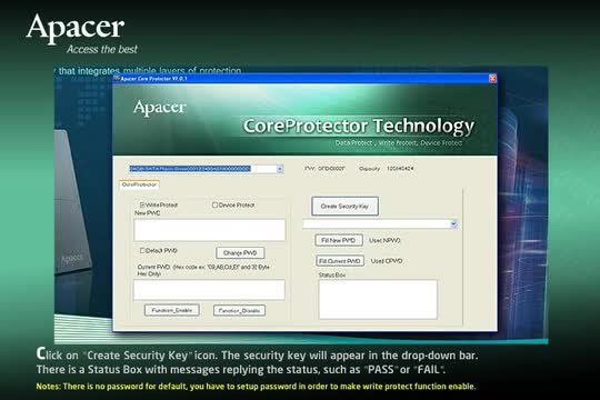 Apacer CoreProtector Instructional Video