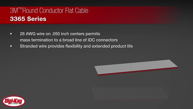 3M Round Conductor Flat Cable 3365 Series | Digi-Key Daily