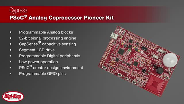 Cypress PSoC Analog Coprocessor Pioneer Kit with TE's 1210 Series | Digi-Key Daily