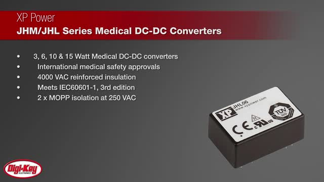 XP Power Medical Grade DC-DC Converters | Digi-Key Daily