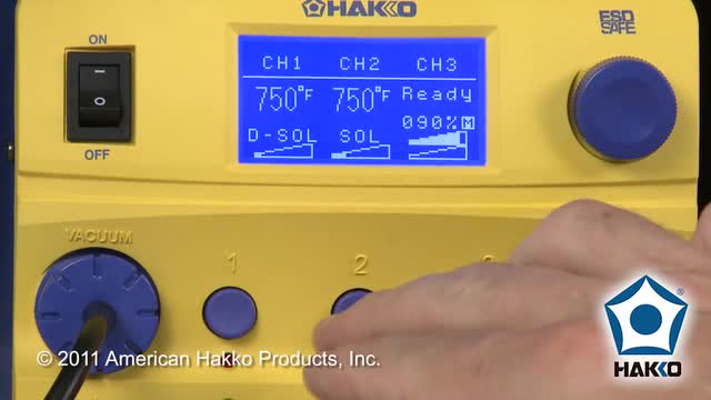 Hakko FM-206 — How To Change the Preset and Working Temperature by American Hakko