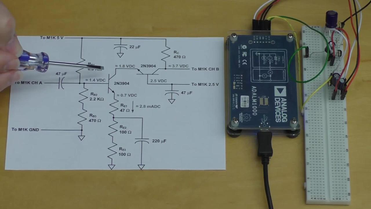 Common-Base & Cascode Amplifier Lab with ADALM1000 and ADALP2000