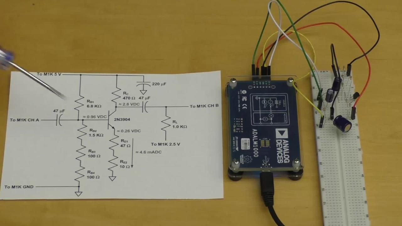 Class A Common-Emitter Amplifier Lab with ADALM1000 and ADALP2000