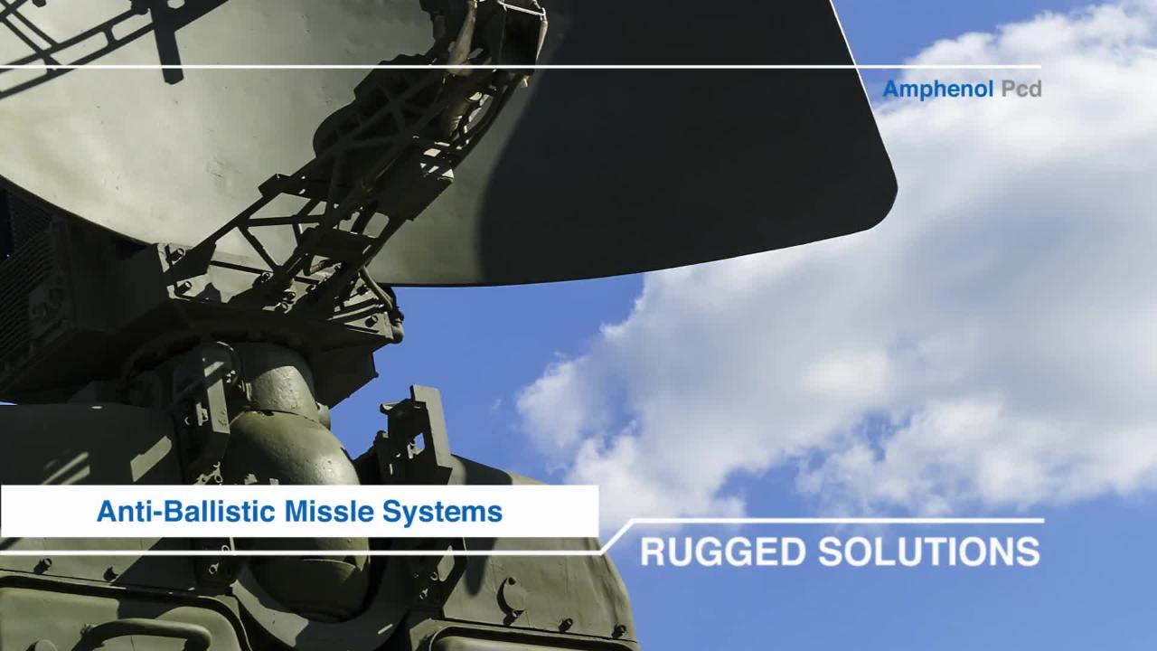 Amphenol Pcd Products for Military Applications