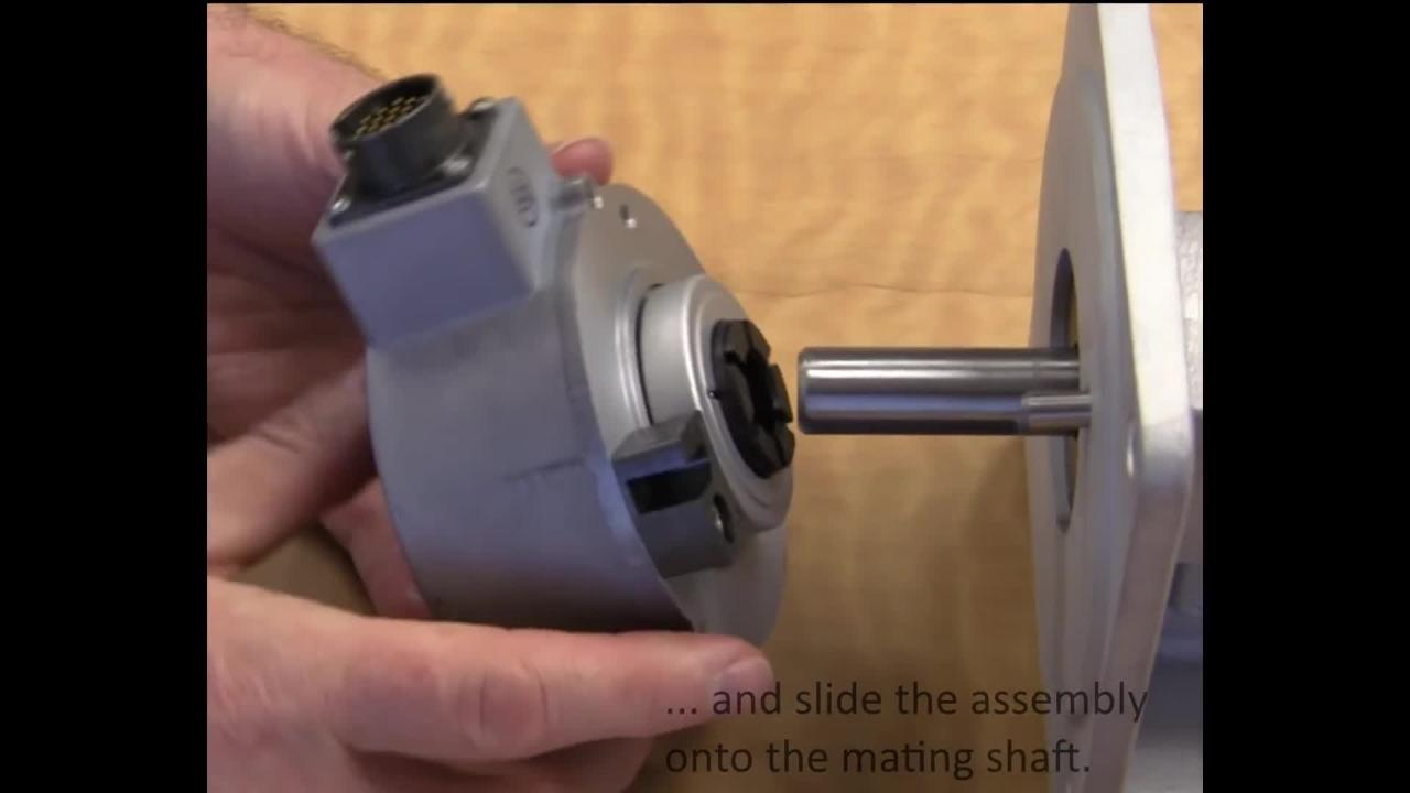 How to Install a Hollow Shaft Rotary Encoder with a block and pin