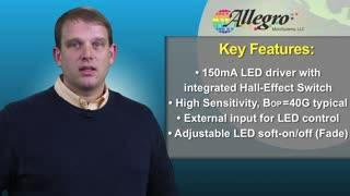 A1569: A Single Chip LED Lighting Solution with Integrated Hall-Effect Switch