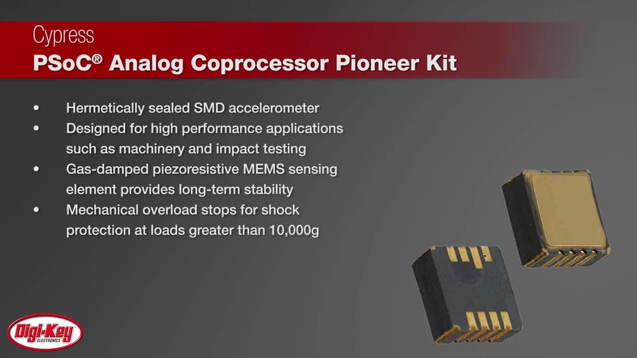 Cypress PSoC Analog Coprocessor Pioneer Kit with TE's Model 3038 Accelerometer | Digi-Key Daily