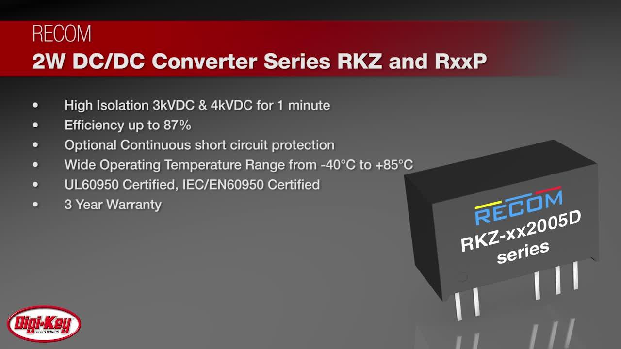 RECOM High Isolation Asymmetric Output DC/DC converters for SiC MOSFETs | Digi-Key Daily