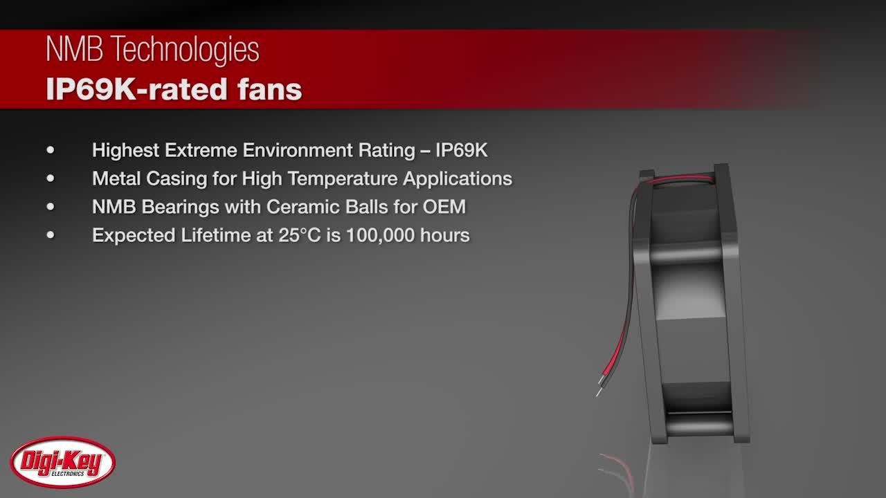 NMB IP69K-Rated Cooling Fans | Digi-Key Daily