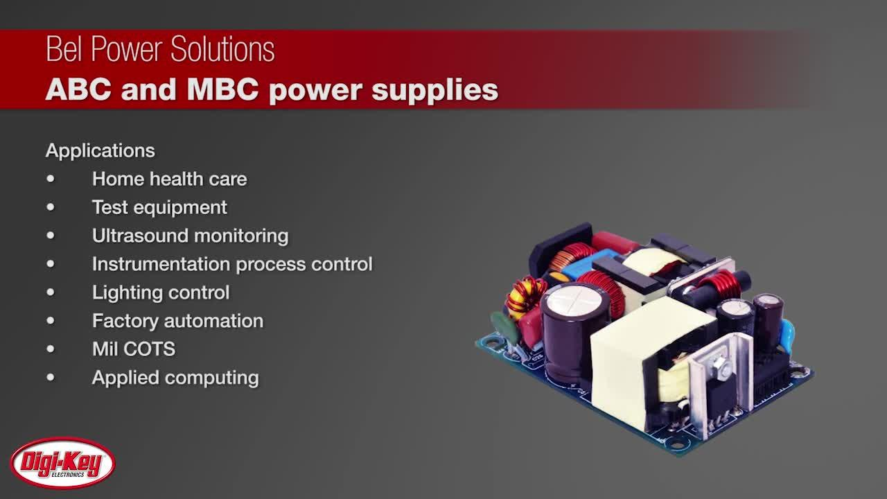 Bel ABC/MBC Low-Profile Series Power Supplies | Digi-Key Daily