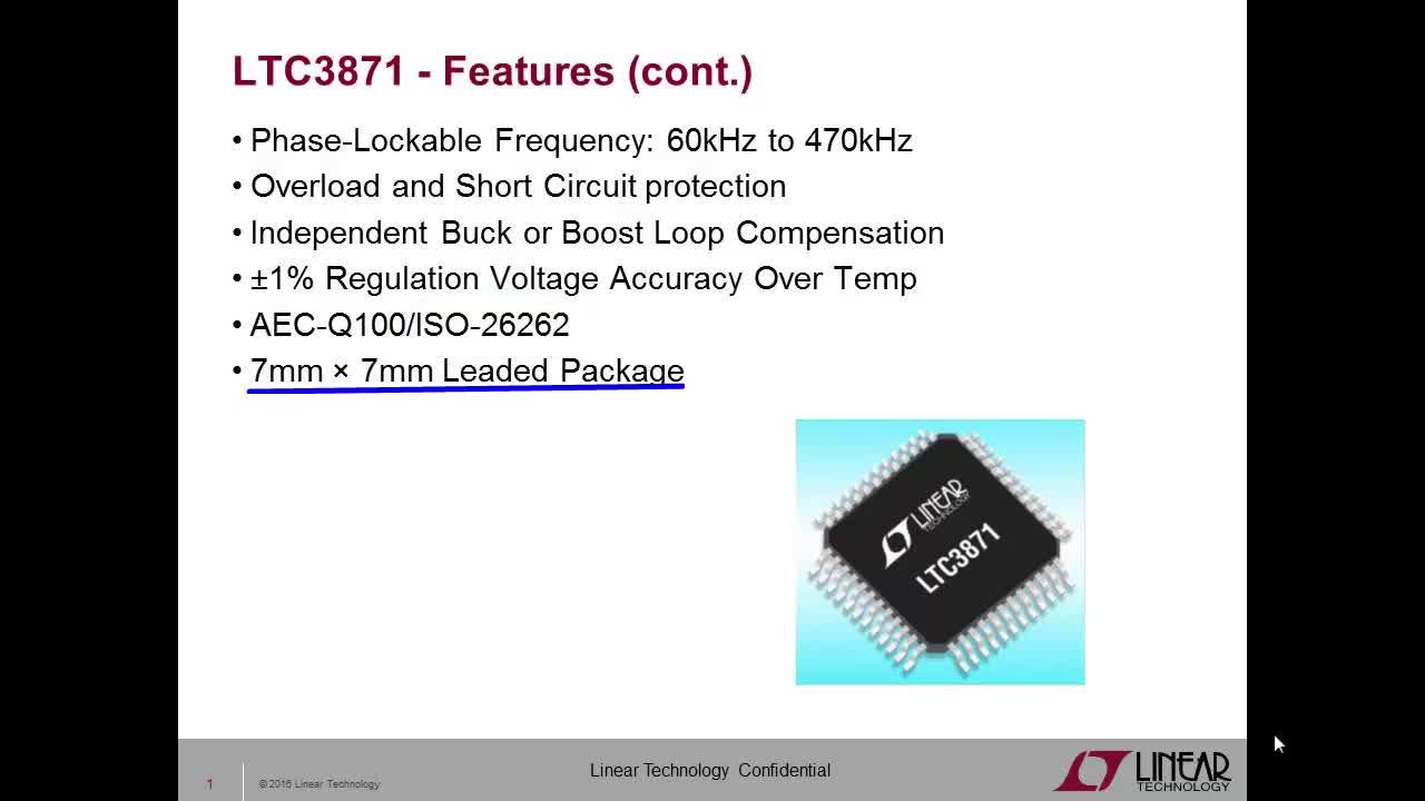 LTC3871 Bidirectional Multi-Phase Synchronous Buck or Boost Controller