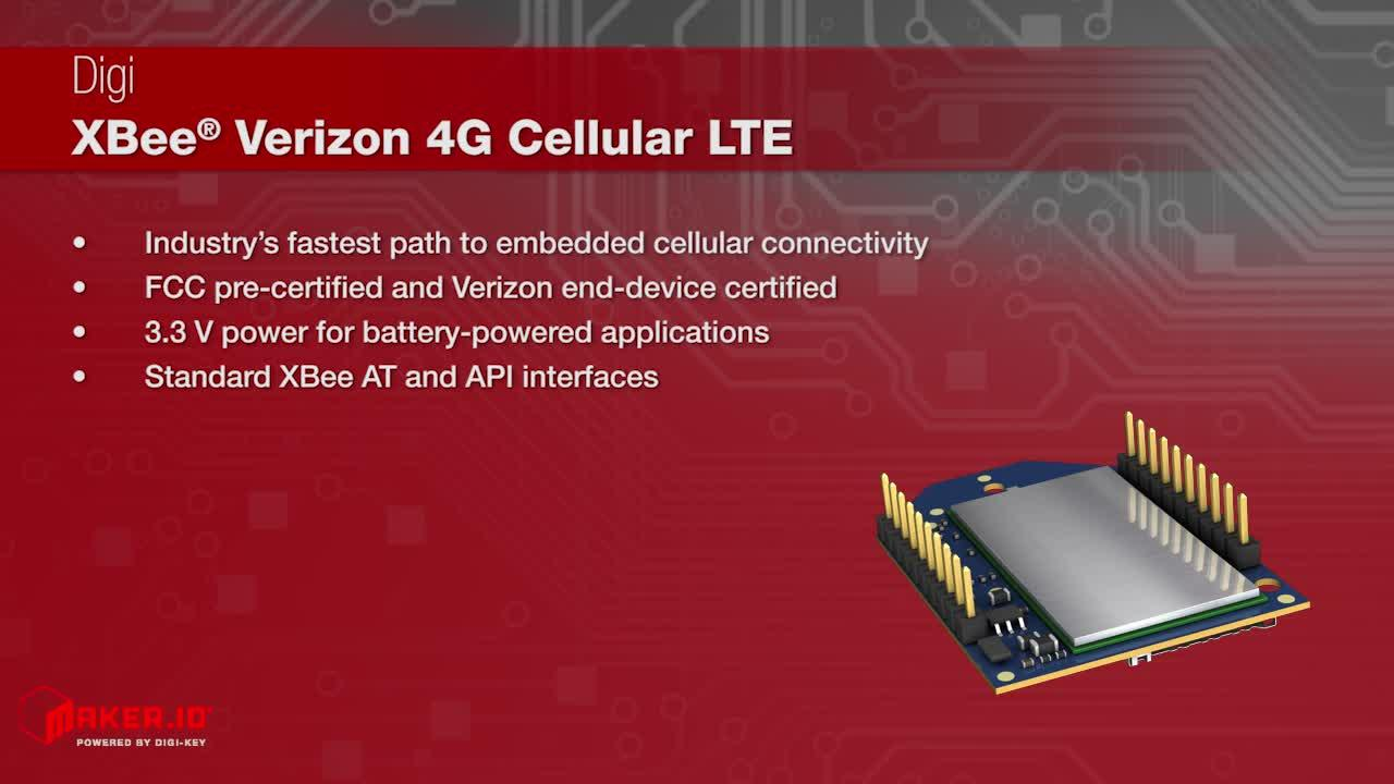 Digi International XBee® Verizon 4G Cellular LTE | Maker Minute