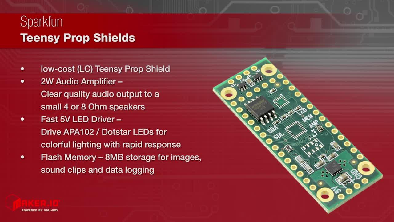 SparkFun Teensy Prop Shields | Maker Minute