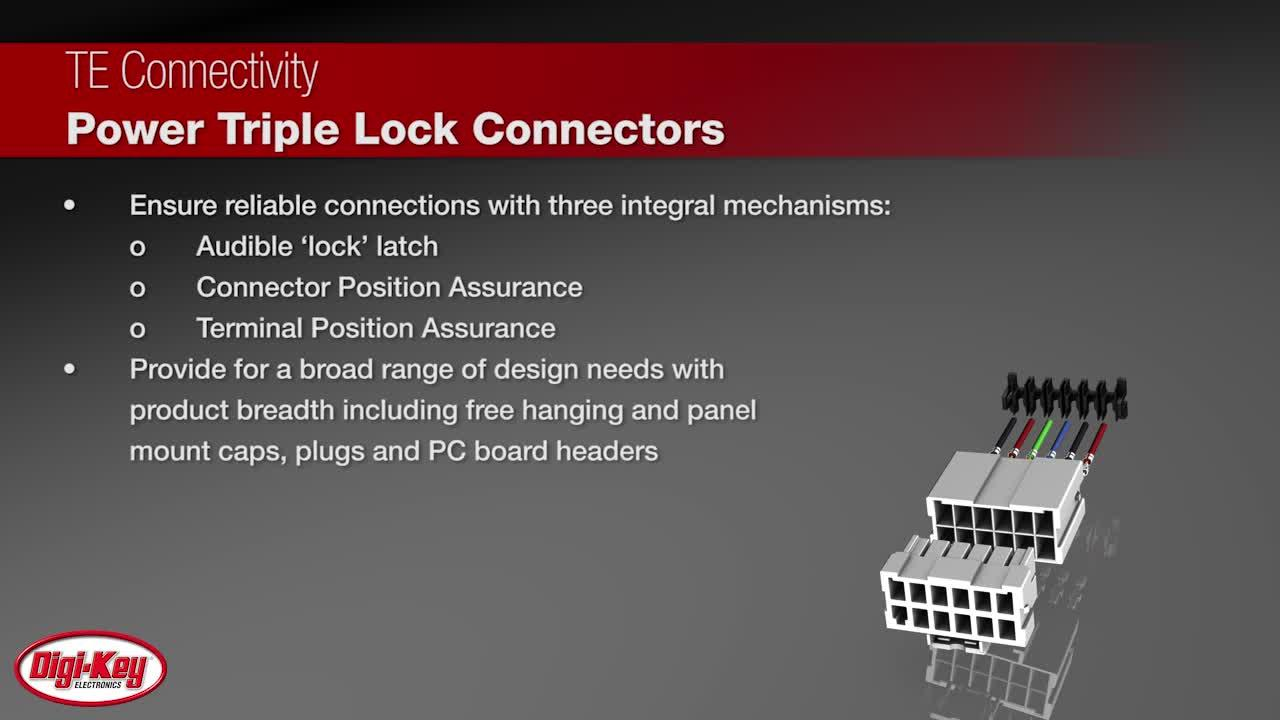 TE Connectivity Power Triple Lock Connectors | Digi-Key Daily
