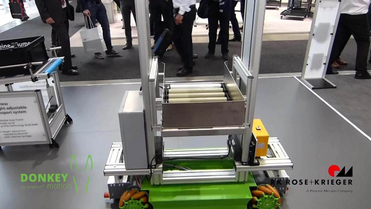 Omnidirectional moveable transport carriage with RK-Components