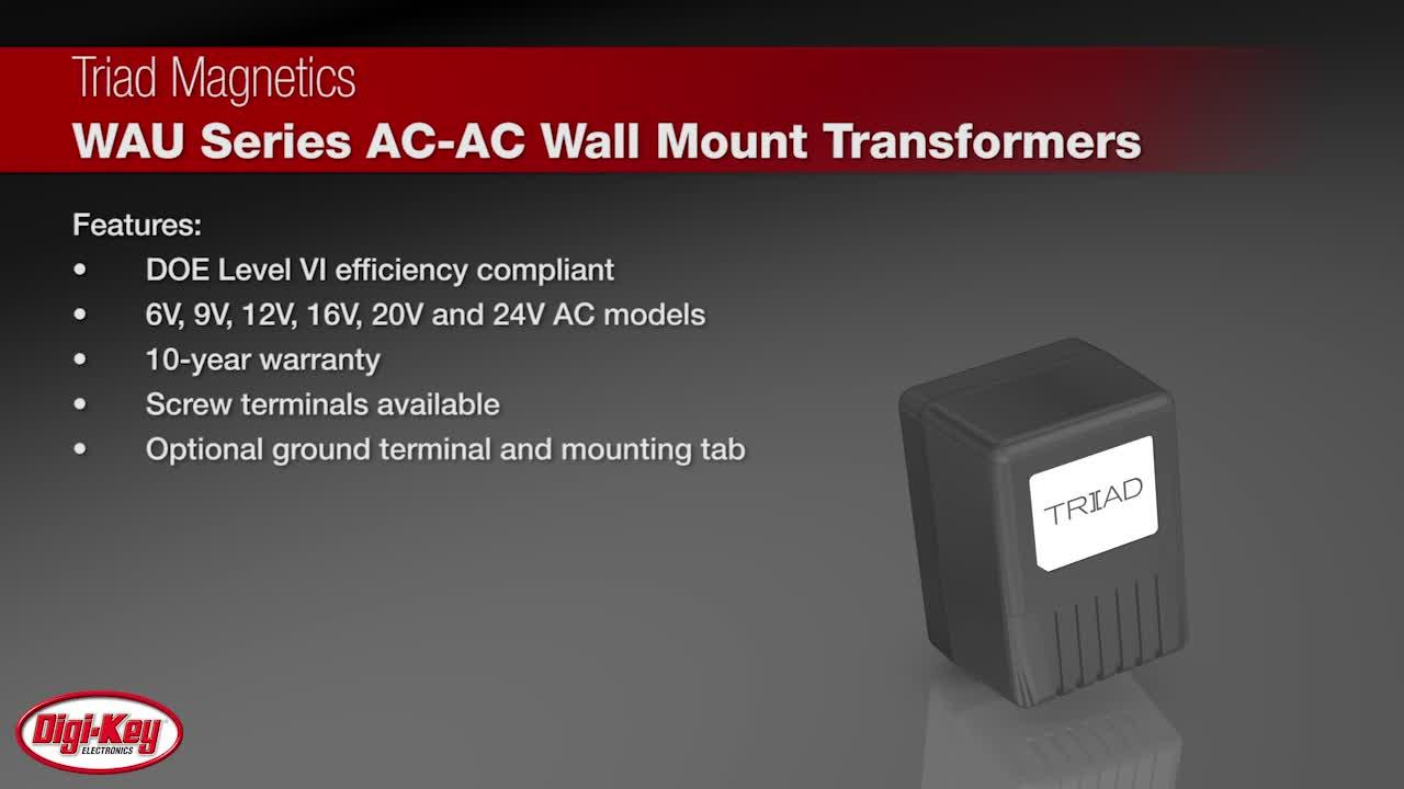 Triad WAU Series AC-AC Wall Mount Transformers | Digi-Key Daily