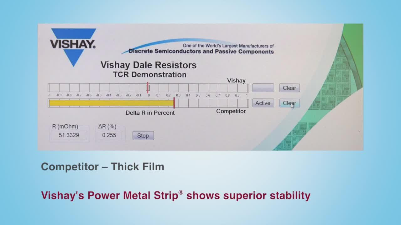 Vishay's Power Metal Strip Temperature Coefficient of Resistance