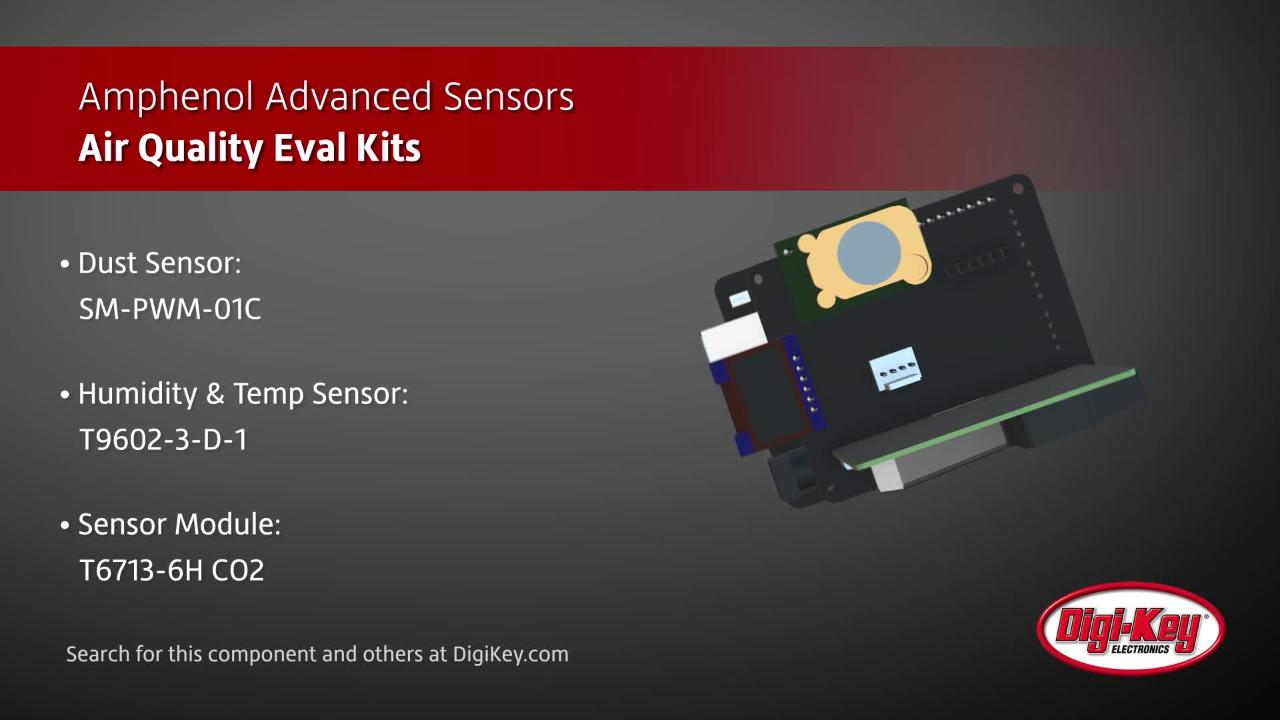 Amphenol Advanced Sensors Air Quality Eval Kits | Digi-Key Daily