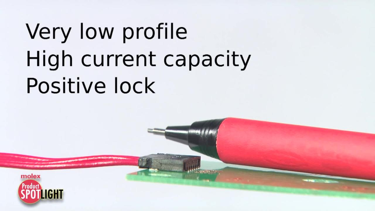 Molex-Product Spotlight-Pico-Lock™ Connector System