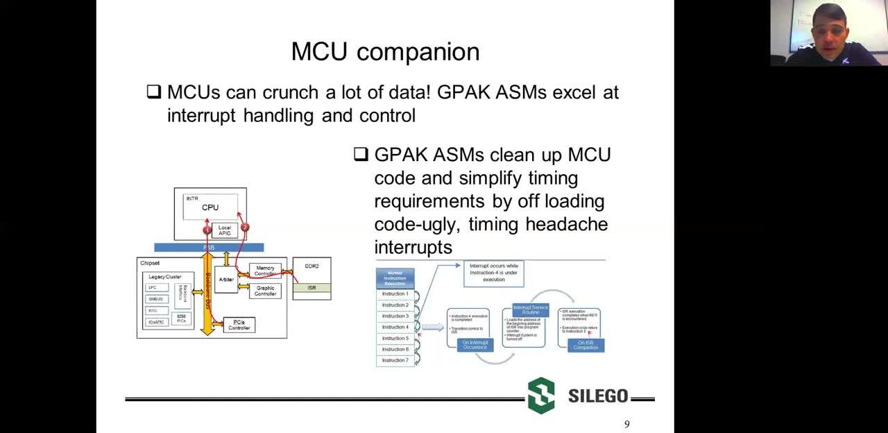 Asynchronous State Machine vs MCU
