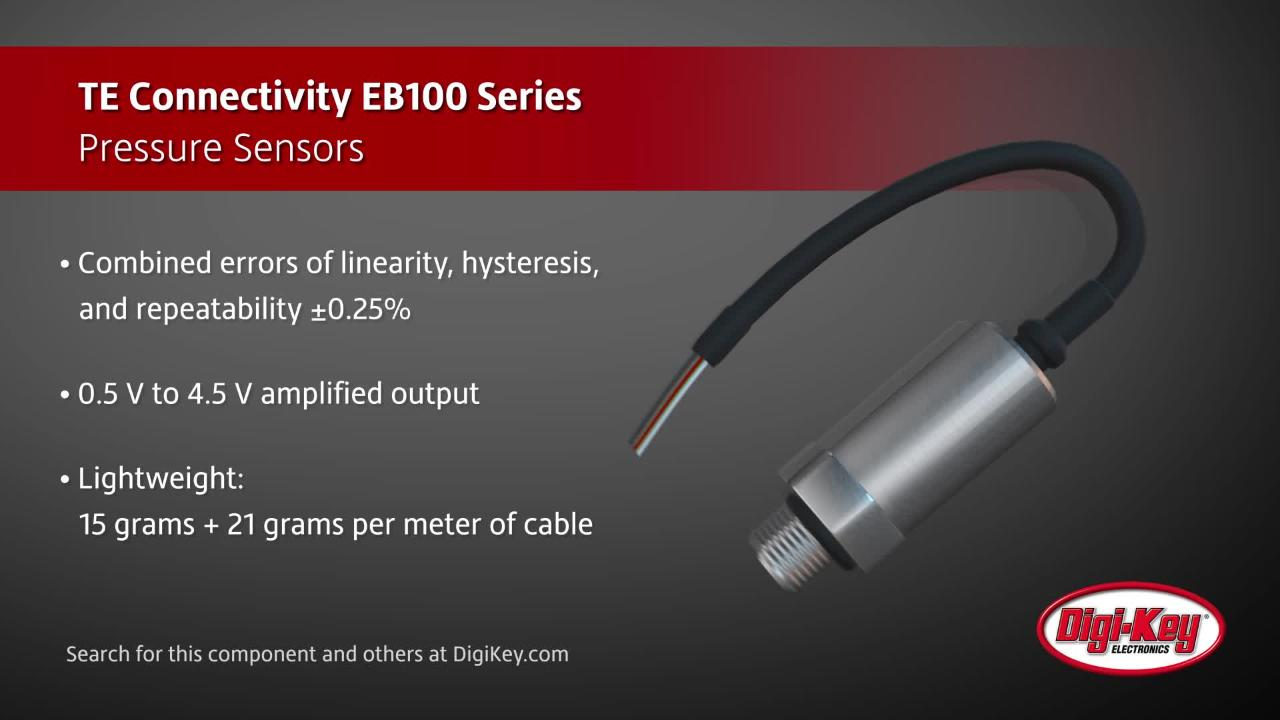 TE Connectivity EB100 Series Pressure Sensor | Digi-Key Daily