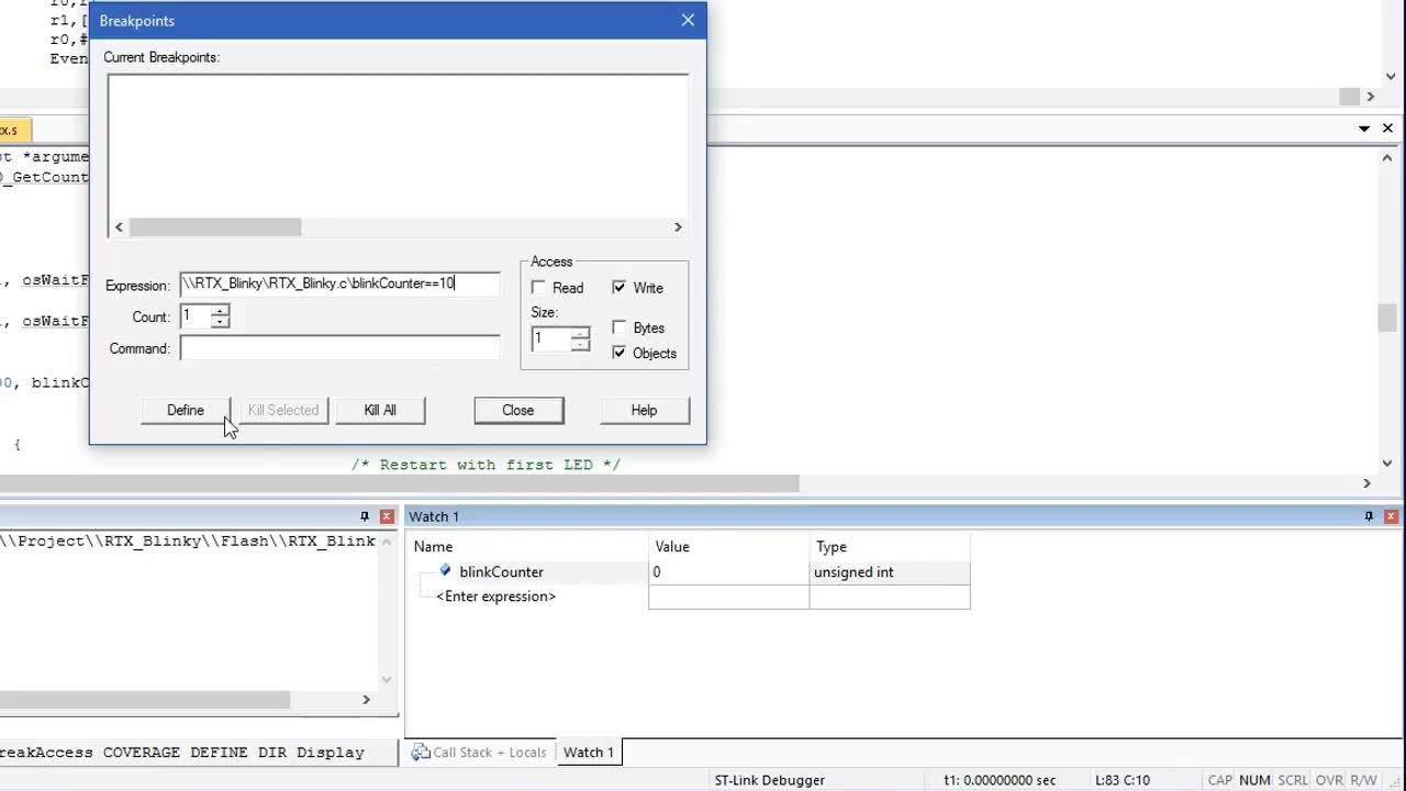 Powerful debugging with Arm Keil MDK using ST-Link