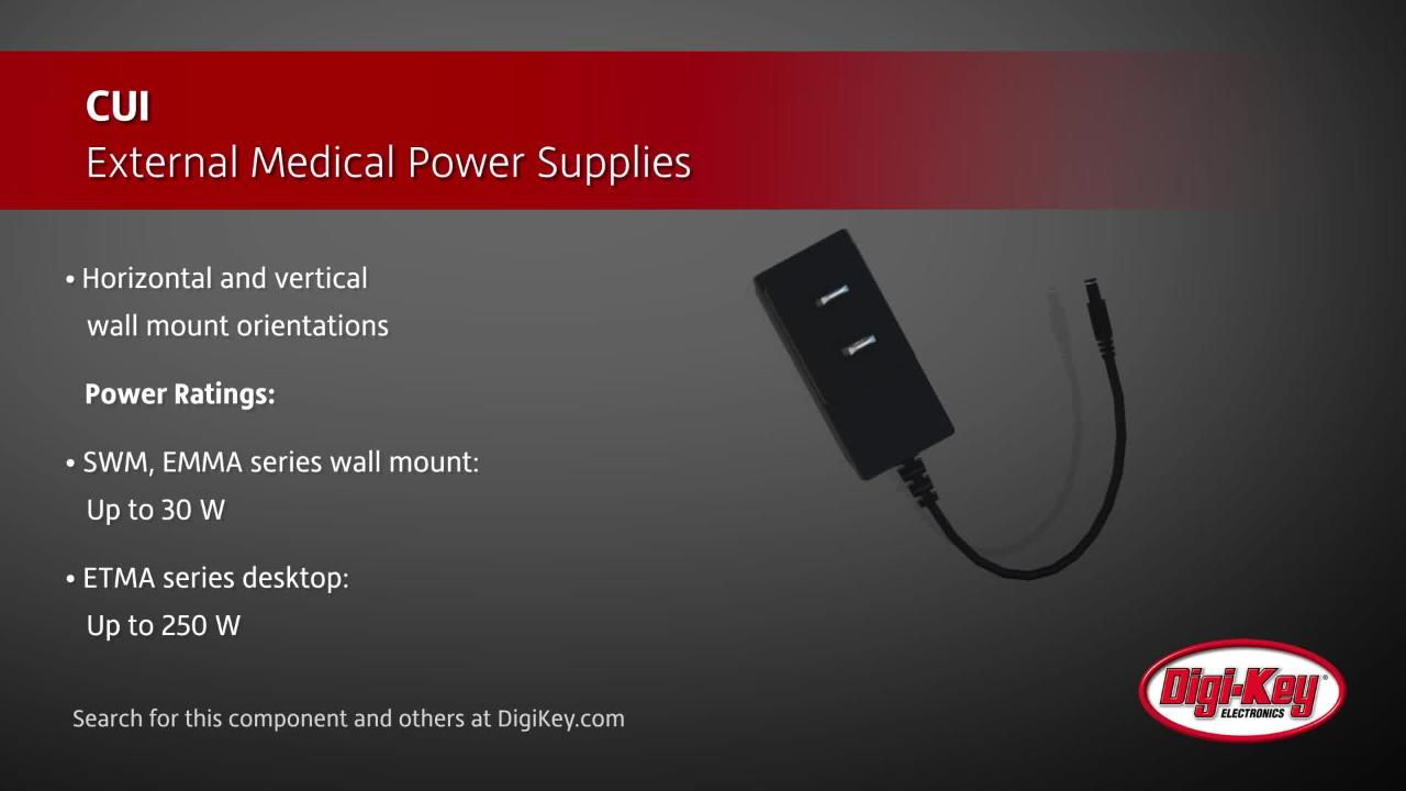 CUI External Medical Power Supplies | Digi-Key Daily