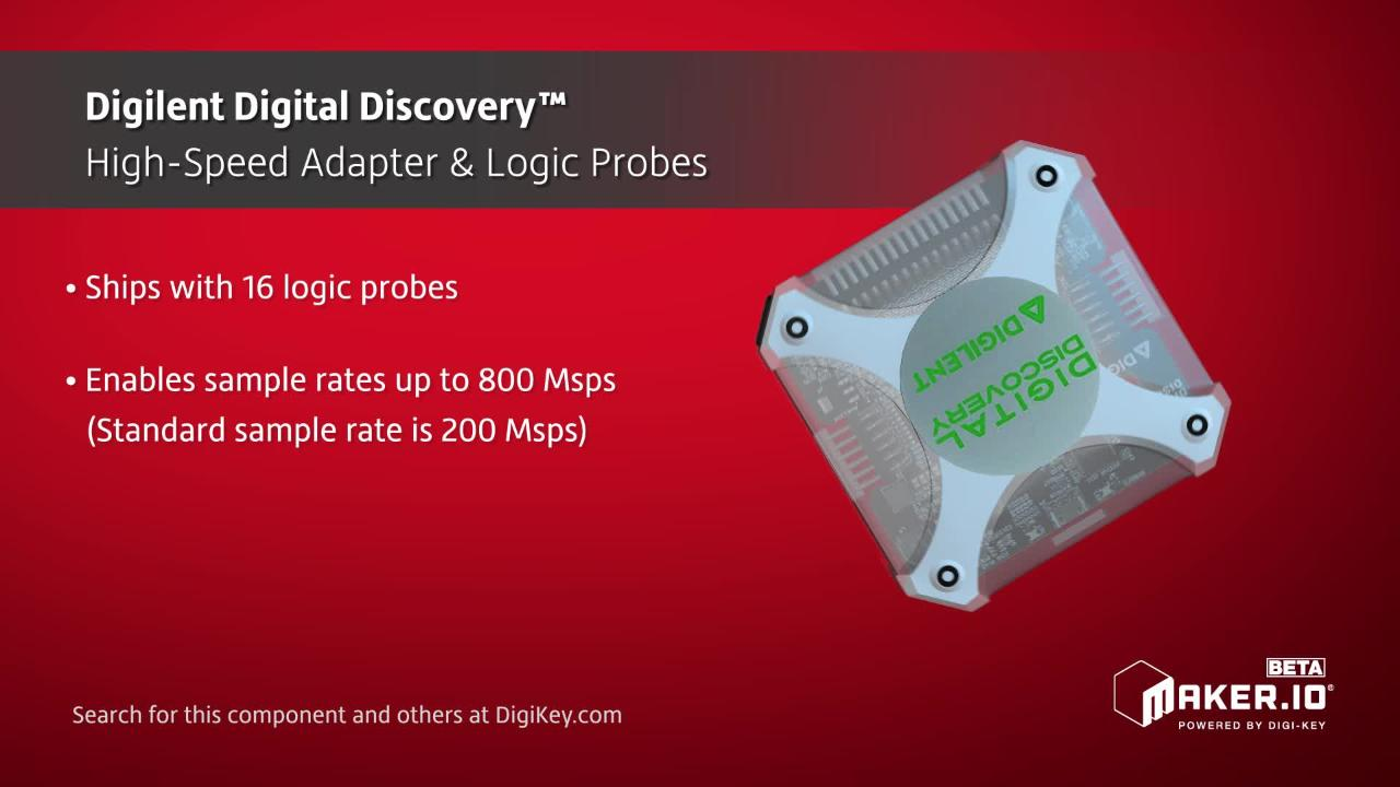 Digilent Digital Discovery High-Speed Adapters and Logic Probes | Maker Minute