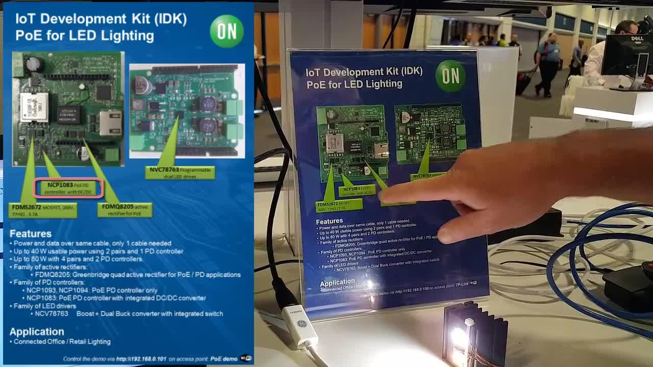 IoT Development Kit with PoE Shield Demonstration at APEC 2017