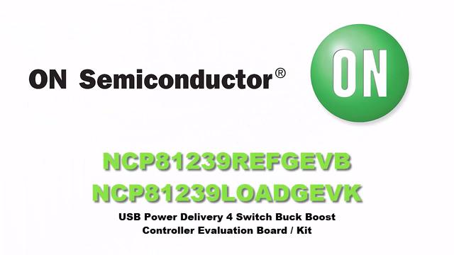 USB Power Delivery 4-Switch Buck Boost Controller Evaluation Kit - NCP81239LOADGEVK