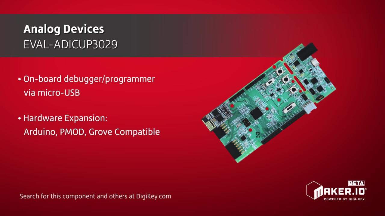 Analog Devices EVAL-ADICUP3029 | Maker Minute