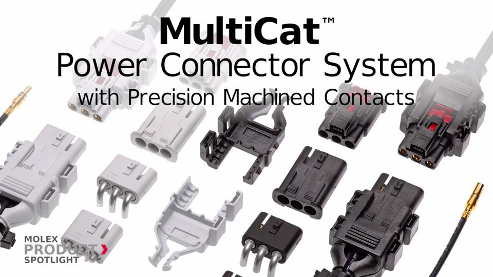Molex - Product Spotlight - MultiCat™ Power Connectors with Precision-Machined Contacts