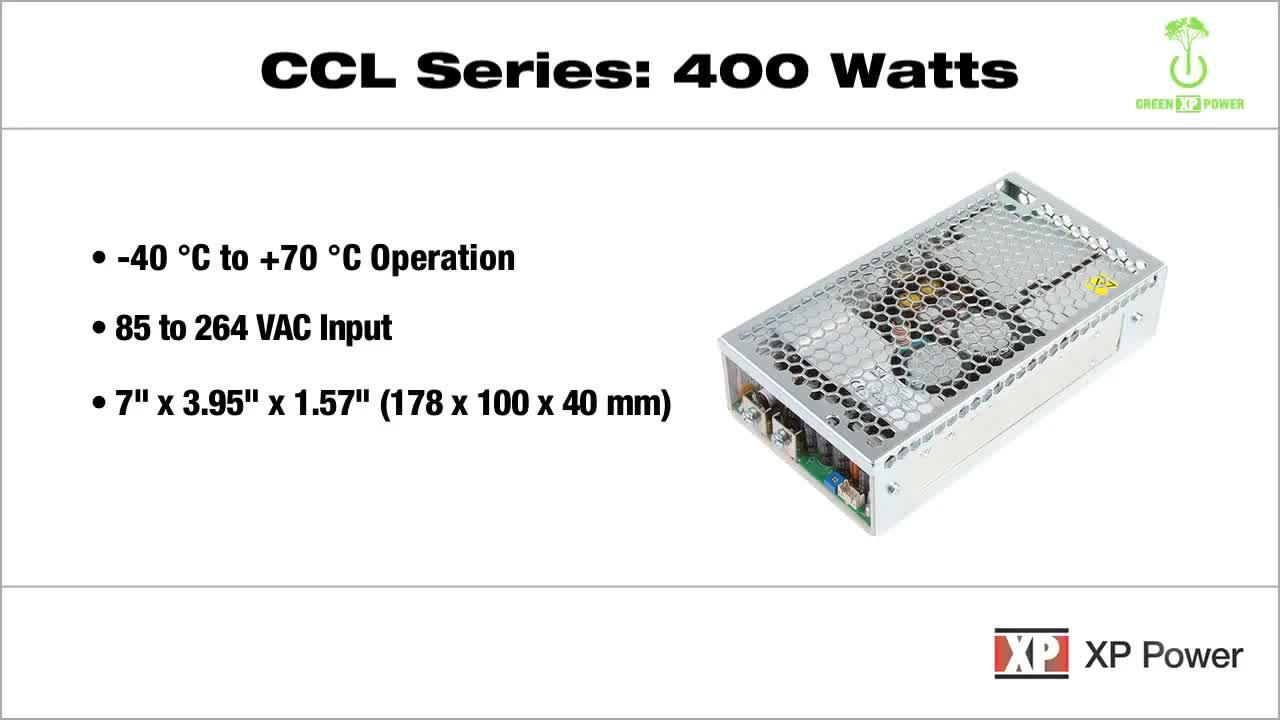 CCL400 Series-Ultra high efficiency 400 Watt convection-cooled power supplies