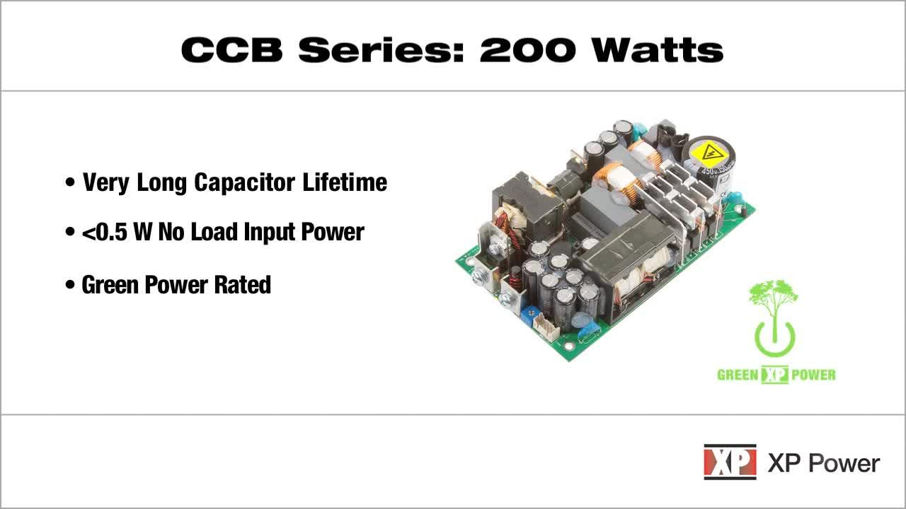 CCB200 Series: 200 Watt Open-frame AC-DC Power Supply