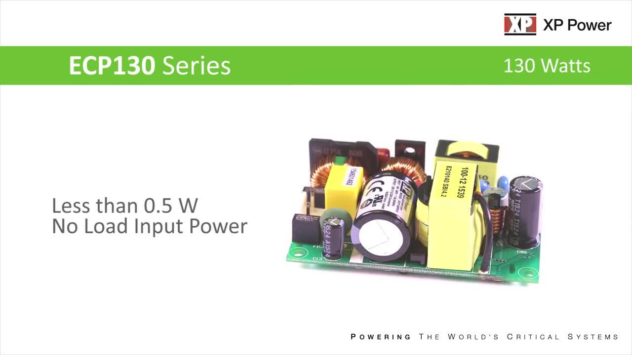 "ECP130 Series - 130 Watt AC-DC Power Supply in 2"" x 3"" Footprint"