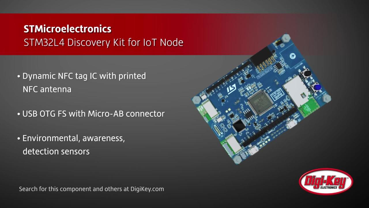 STMicroelectronics STM32L4 IoT Discovery Kit | Digi-Key Daily